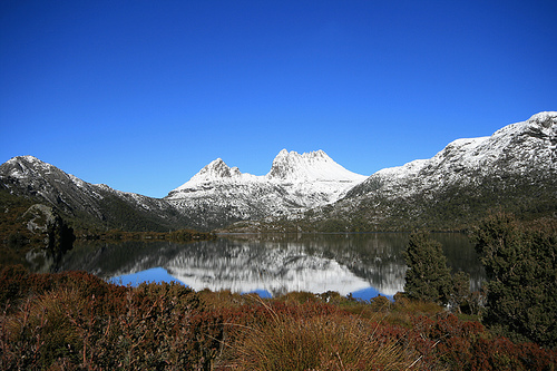 Cradle Mountain, quite clearly on a much nicer day