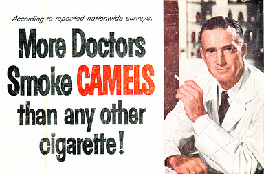 More doctor's smoke camels than any other cigarette!